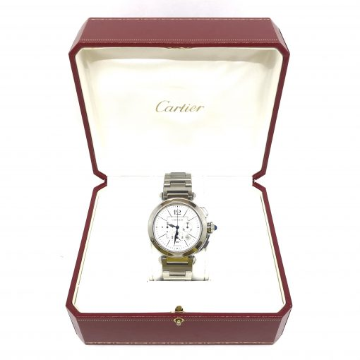 Cartier Pasha Chronograph 42mm Men's Watch, Preowned_W31085M7 4