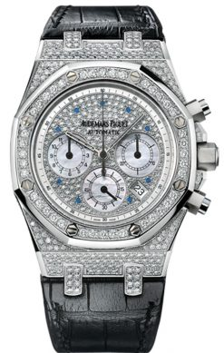 Audemars Piguet Royal Oak Chronograph 18K White Gold & Diamonds Unisex Watch preowned.26068BC.ZZ.D002CR.01