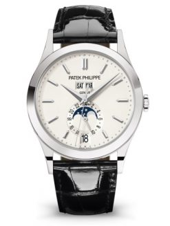 Patek Philippe Calatrava Moonphase Annual Calendar 18k White Gold Men's Watch, 5396G-011 5396G-011