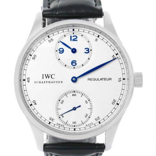 IWC Portuguese Regulateur Stainless Steel Men's Watch (Copy), preowned.IW544401