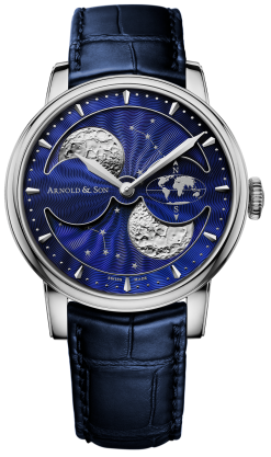 Arnold & Son Double Hemisphere Perpetual Moon Stainless Steel Men's Watch preowned.1glas.u06a