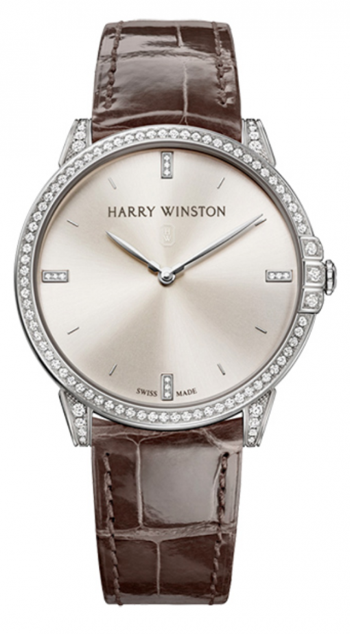 Harry Winston Midnight Quartz Diamonds 18K White Gold Ladies Watch, preowned.450/UQ39WL.W/D3.1 (MIDQHM39WW002)
