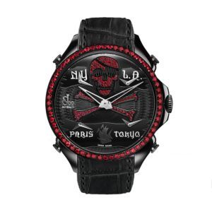 Jacob & Co Palatial Five Time Zone Pirate Red Rubies Mens Watch, PZ500.11.VO.NU.A