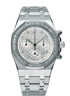 Audemars Piguet Royal Oak Chronograph 18K White Gold & Diamonds Unisex Watch preowned.25966bc.zz.1185bc.01