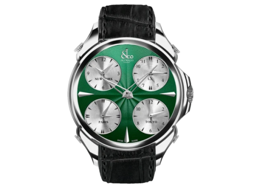 Jacob & Co Palatial Five Time Zone Green Dial Mens Watch, PZ500.10.NS.CH.A