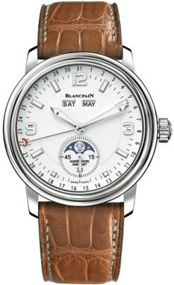 Blancpain Leman Moonphase & Complete Calendar Stainless Steel Men's Watch Preowned.2863-1127-53B
