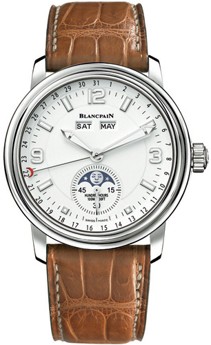 Blancpain Leman Moonphase & Complete Calendar Stainless Steel Men's Watch, Preowned.2863-1127-53B