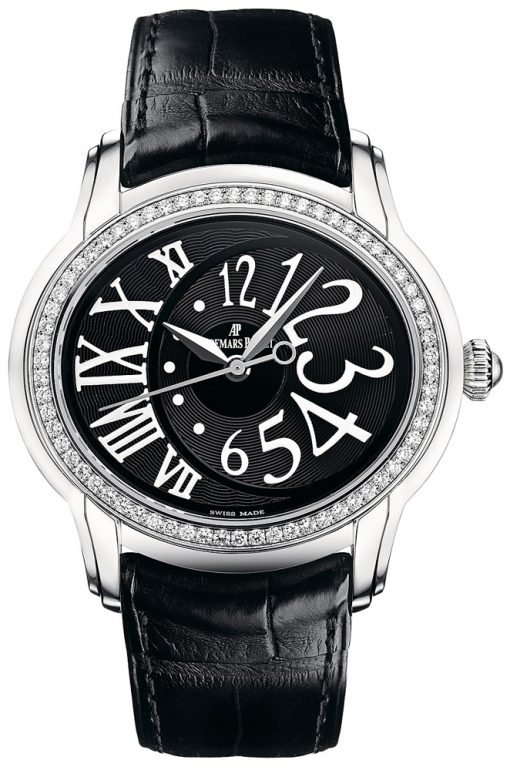 Audemars Piguet Millenary Stainless Steel & Diamonds Ladies Watch, preowned.77301ST.ZZ.D002CR.01