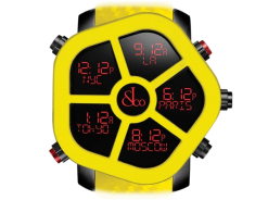 Jacob & Co Ghost Five Time Zone Yellow Carbon Fiber Men's Watch GH100.11.NS.PC.ANH4D