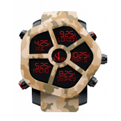 Jacob & Co Ghost Five Time Zone Camouflage Sand Carbon Fiber Men's Watch GH100.11.NS.PC.ANQ4D