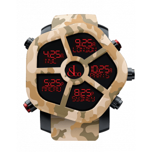 Jacob & Co Ghost Five Time Zone Camouflage Sand Carbon Fiber Men's Watch, GH100.11.NS.PC.ANQ4D