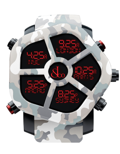 Jacob & Co Ghost Five Time Zone Camouflage Grey Carbon Fiber Men's Watch GH100.11.NS.PC.ANS4D