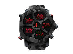 Jacob & Co Ghost Five Time Zone Camouflage Black Carbon Fiber Men's Watch GH100.11.NS.PC.ANR4D