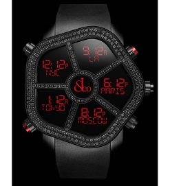 Jacob & Co Ghost Five Time Zone Black Spinel Men's Watch GH100.11.TU.PB.A