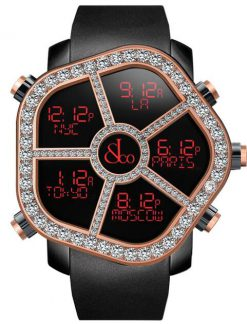 Jacob & Co Ghost Five Time Zone Steel/18KRose Gold Diamonds Men's Watch GH100.14.RP.MR.A