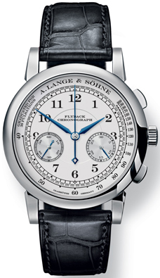 A. Lange and Sohne 1815 Chronograph 18K White Gold Men's Watch preowned.401.026