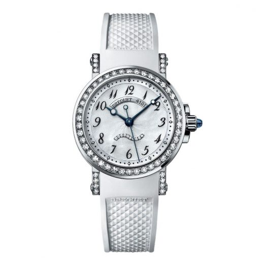 Brequet Marine 8818 18K White Gold & Diamonds Ladies Watch, 8818BB/59/564/DD00