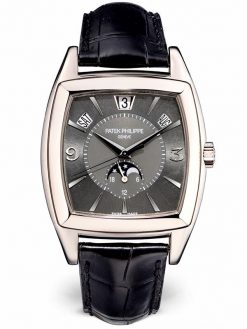 Patek Philippe Gondolo Calendario Annual Calendar 18K White Gold Men's Watch preowned-5135G-010