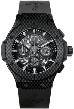 Hublot Big Bang 44 MM Aero Bang Chronograph Carbon Men's Watch preowned-311.QX.1124.RX