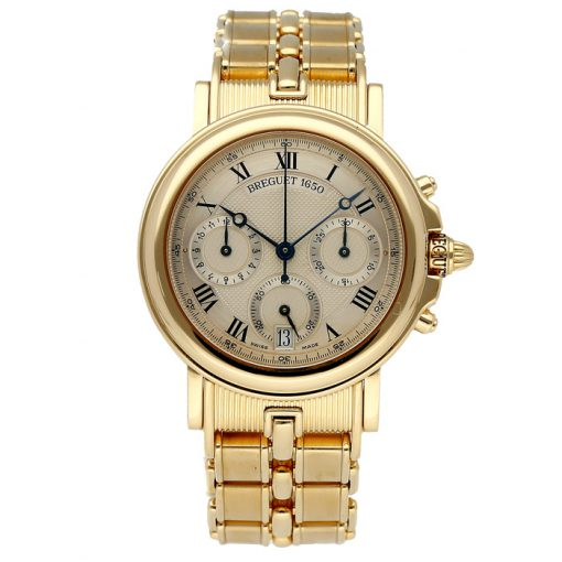 Breguet Marine Chronograph 18K Yellow Gold Men's Watch, Preowned-3460BA/12/A90