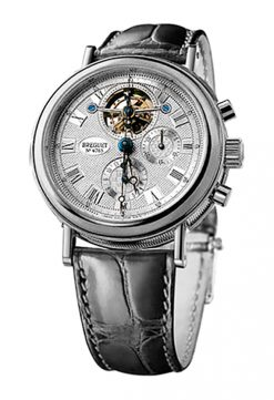 Brequet Grand Complication 3577 Tourbillon Chronograph Platinum Mens Watch Preowned-3577PT/15/9V6