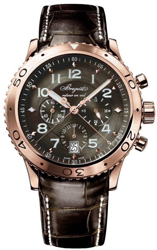 Brequet Type XXI Flyback 18K Rose Gold Men's Watch, preowned.3810BR/92/9ZU
