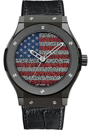 Hublot US Liberty Bang Limited Edition Ceramic Men's Watch, Preowned.511.CM.1190.GR.USA11