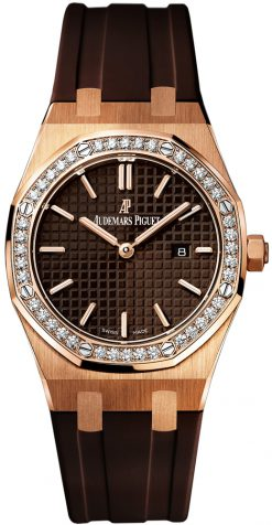 Audemars Piguet Royal Oak Quartz 18K Rose Gold & Diamonds Unisex Watch preowned.67651OR.ZZ.D080CA.01