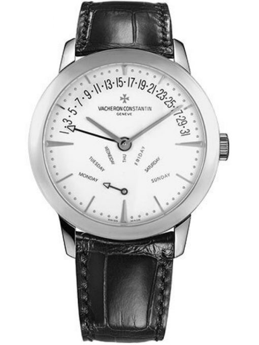 Vacheron Constantin Patrimony Retrograde Day Date 18K White Gold Men's Watch, Preowned-86020/000G-9508