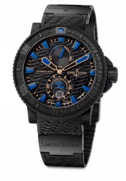 Ulysse Nardin Marine Collection Champion's Diver 'Plushenko' Stainless Steel & Rubber Men's Watch preowned-263-96LE-3C