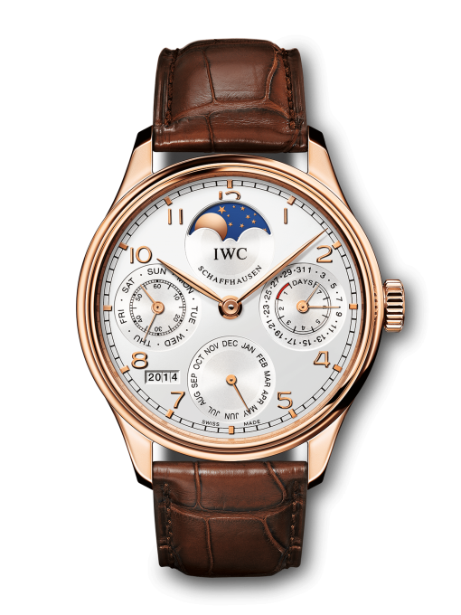 IWC Portuguese Perpetual Calendar 18K Rose Gold Mens Watch, Preowned-IW502306