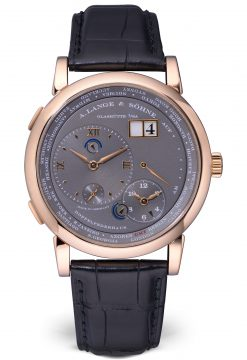 A. Lange and Sohne Lange 1 Time Zone 18K Rose Gold Men's Watch Preowned-116.033