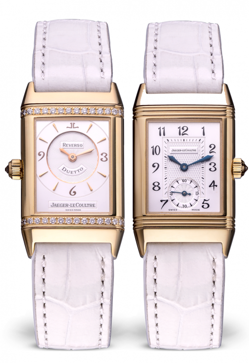 Jaeger Le-Coultre Reverso Duetto Classique Yellow Gold Ladies Watch, Preowned-256.1.75