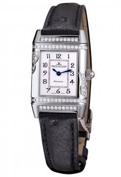 Jaeger Le-Coultre Squadra Ladies Duetto Diamonds Leather Ladies Watch Preowned-265.3.08