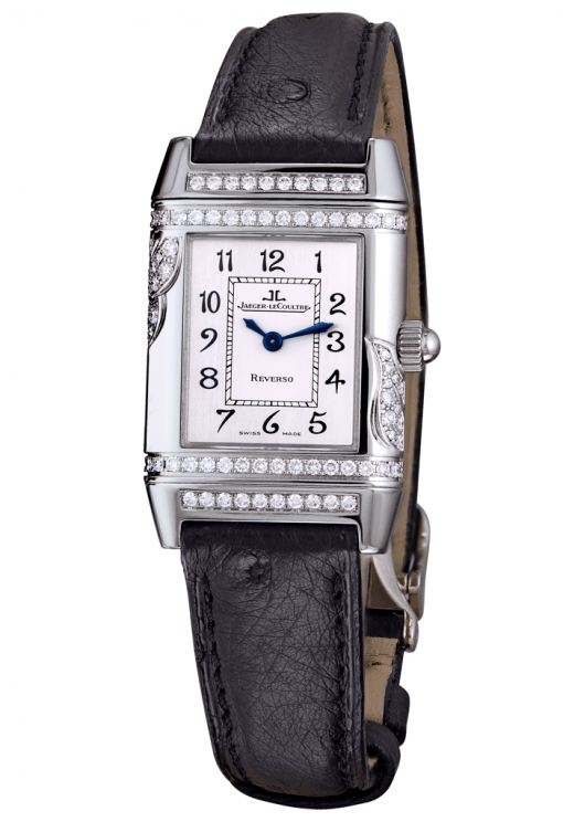 Jaeger Le-Coultre Squadra Ladies Duetto Diamonds Leather Ladies Watch, Preowned-265.3.08