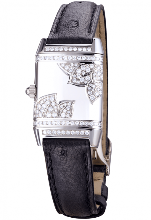 Jaeger Le-Coultre Squadra Ladies Duetto Diamonds Leather Ladies Watch, Preowned-265.3.08 2