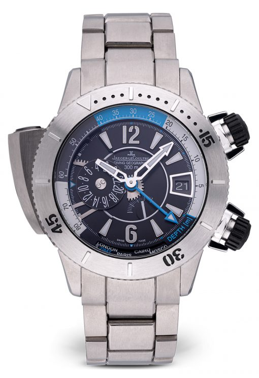 Jaeger LeCoultre Master Compressor Diving Pro Geographic Titanium Men`s Watch, Preowned-159.T.39
