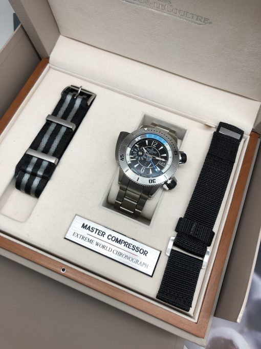 Jaeger LeCoultre Master Compressor Diving Pro Geographic Titanium Men`s Watch, Preowned-159.T.39 2