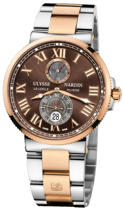 Ulysse Nardin Maxi Marine Chronometer 18K Rose Gold Men's Watch, Preowned-265-67-8/45