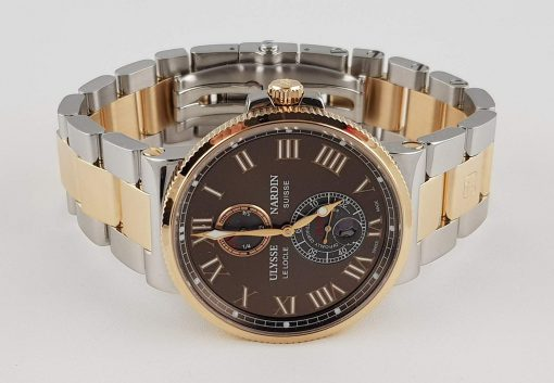 Ulysse Nardin Maxi Marine Chronometer 18K Rose Gold Men's Watch, Preowned-265-67-8/45 3