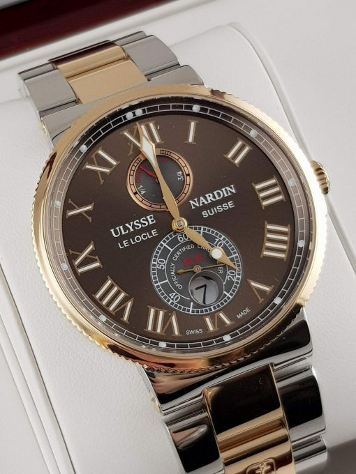 Ulysse Nardin Maxi Marine Chronometer 18K Rose Gold Men's Watch, Preowned-265-67-8/45 2