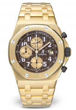 Audemars Piguet Royal Oak 18K Yellow Gold Arnold Schwarzenegger Men's Watch preowned-26007BA.OO.D088CK.01