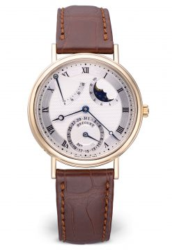 Breguet Classique Power Reserve Moon Phase 18K Yellow Gold Men's Watch preowned-3130