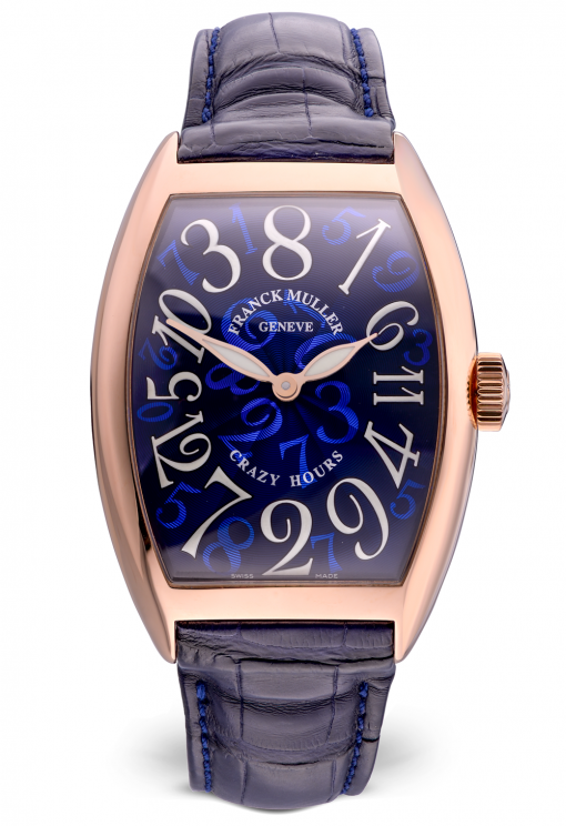 Franck Muller Crazy Hours 18K Rose Gold Men's Watch, preowned.8880 CH