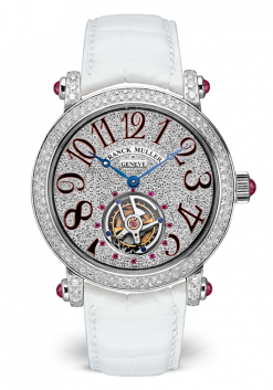 Franck Muller Rounde Tourbillon 18K White Gold Watch preowned.7008 TD CD