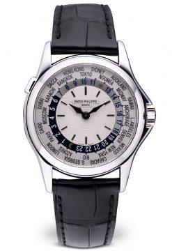 Patek Philippe Complications World Time 38.5mm White Gold Men's Watch Peowned-5110G-001
