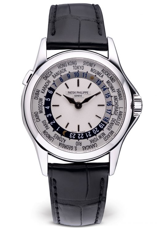 Patek Philippe Complications World Time 38.5mm White Gold Men's Watch, Peowned-5110G-001