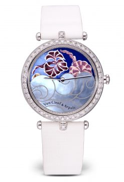 Van Cleef & Arpels Poetic Complications Journee a Paris 18K White Gold Ladies… Preowned- HH18164