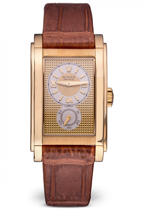Rolex Cellini Prince 18K Rose Gold Men's Watch, Preowned-5440/8