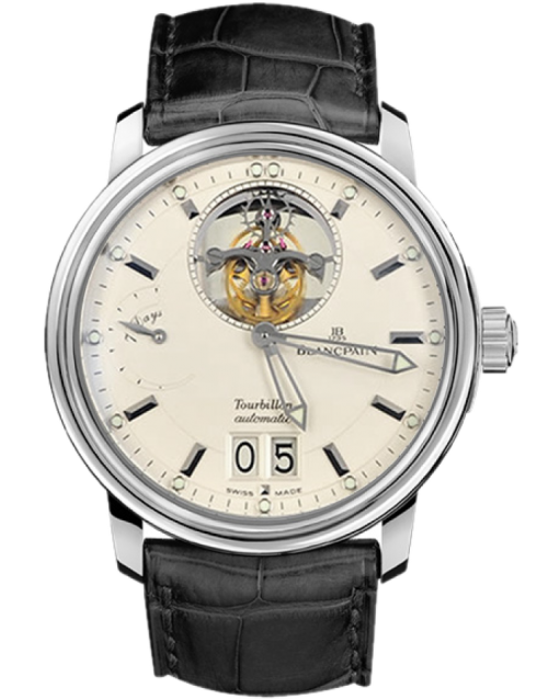 Blancpain Leman Tourbillon Limited Edition 18K White Gold Men`s Watch, Preowned-2825A-1542-53